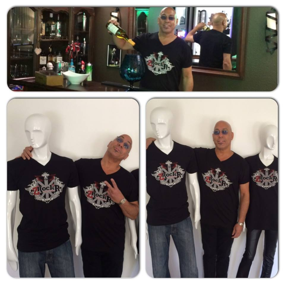 Legendary bassist Carmine Rojas wearin' our official ICJUK shirt!