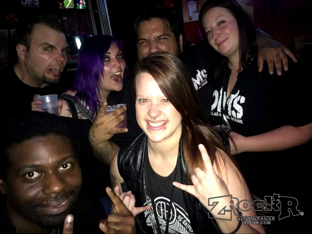 ZRockR's Lance Brown and members of the Dallas Metal Scene!