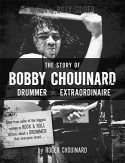 Bobby Chouinard: Drummer Extraordinaire was released in Fall of 2012. The book is by Roger Chouinard, Bobby's nephew. Note that the content of this review is based on a copy purchased upon the book's initial review; I am unaware if any revised editions have been done.