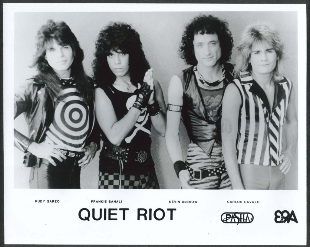 The Classic line up from 1984 Pasha Records promo shot- Rudy Sarzo, Frankie Banali, Kevin DuBrow and Carlos Carvazo