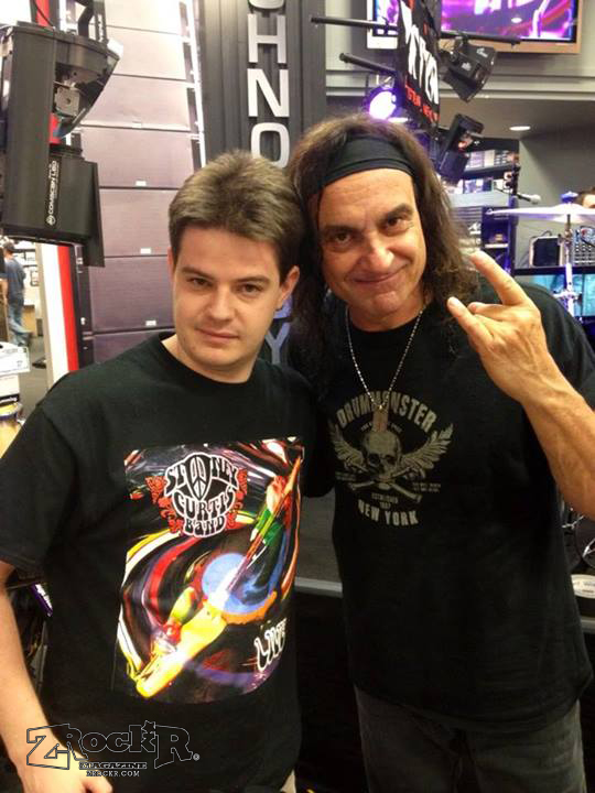 Taylor Carlson with Vinny Appice