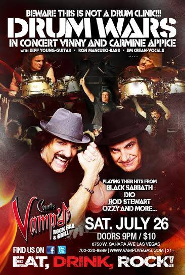 On July 26, 2014, Appice Drum Wars will return to Count's Vamp'd.