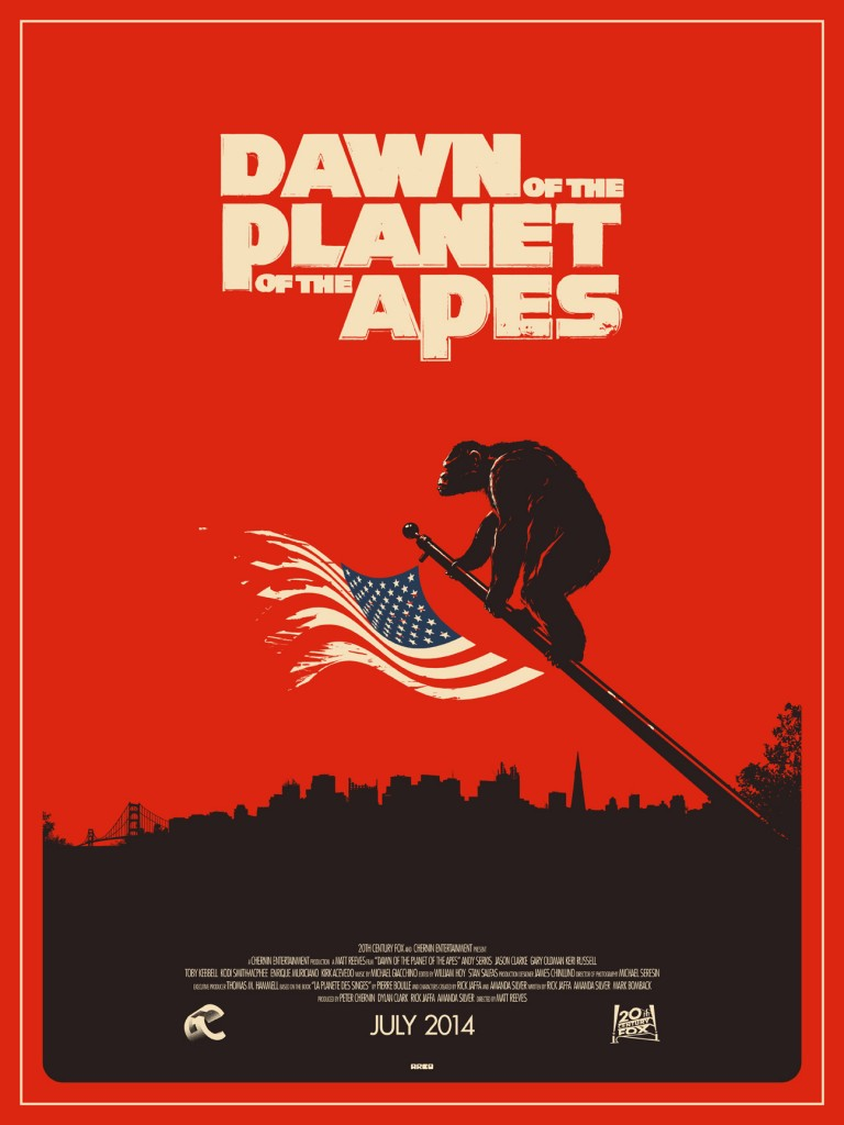 Dawn of the Planet of the Apes- in theaters now.