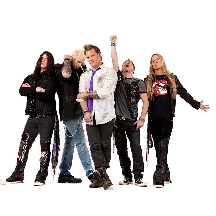 Wrestler and Rocker Chris Jerico and the rest of his band known as FOZZY