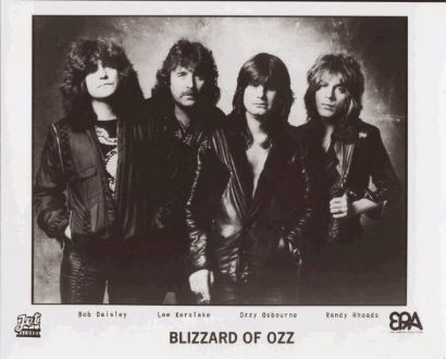 Bob with Blizzard of Ozz From L to R: Bob Daisley, Lee Kerslake, Ozzy Osbourne and Randy Rhoads