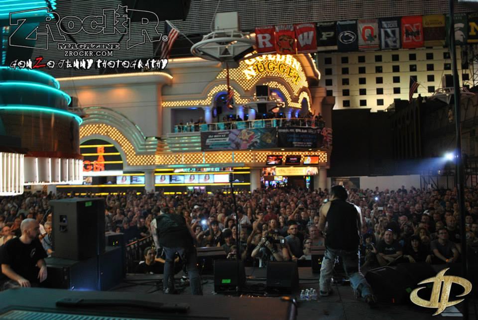 Drowning Pool KILLING IT Downtown Vegas!