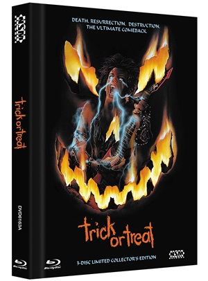 The European ONLY ( no you can't get this in the USA!) blu-ray release of the metal horror movie Trick or Treat is one of the many prizes being given away!