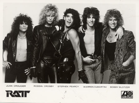 Atlantic Records Promo Photo of RATT from the mid 80's