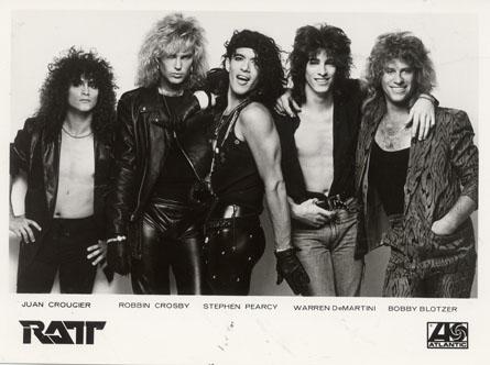 Atlantic Records Promo Photo of RATT from the mid 80's