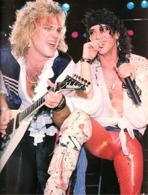 "Back when Ratt n Roll ruled- Robbin ""King"" Crosby and Stephen Pearcy on stage."