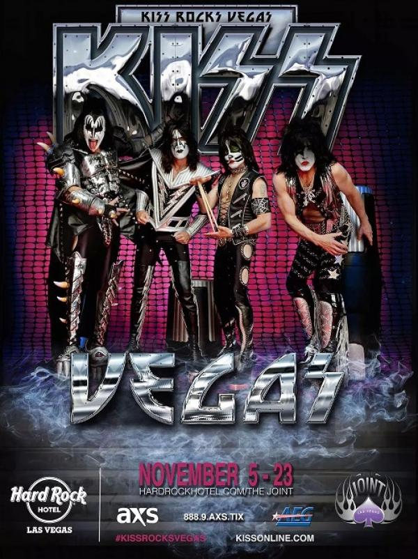 KISS starts their residency at The Joint inside the Hard Rock Hotel and Casino on November 5