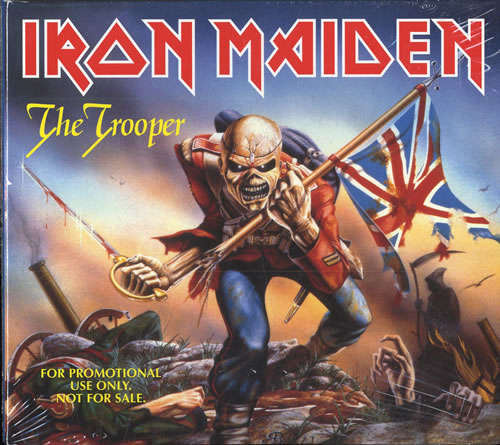 Cover of Iron Maiden's maxi single for The Trooper