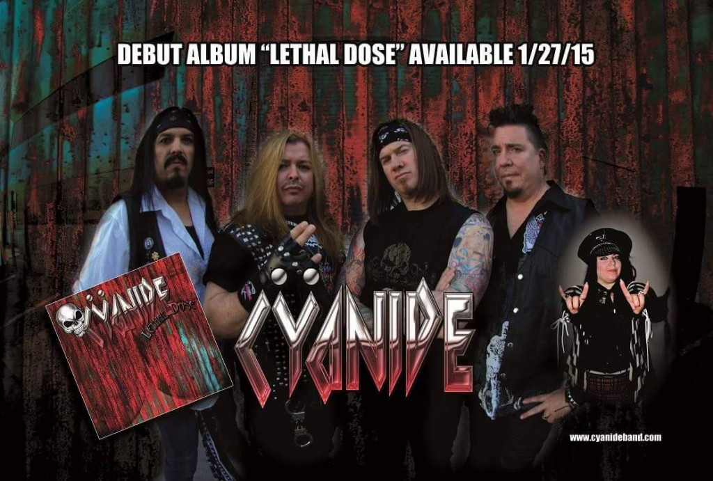 "Check out Cyanide's debut album ""Lethal Dose""! Available January 2015."