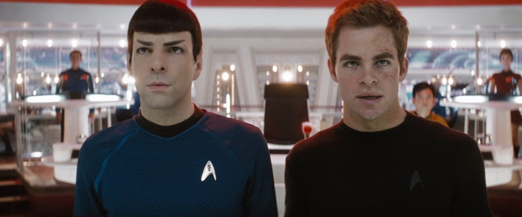 In The End It Always Comes Down To Spock ( Zachary Quinto) and Kirk (Chris Pine)