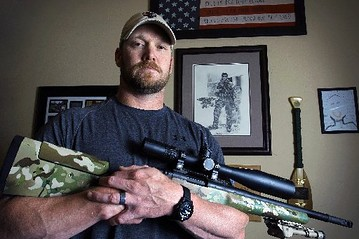 Late Navy Seal Chris Kyle- whose life story is told in the Clint Eastwood produced film American Sniper