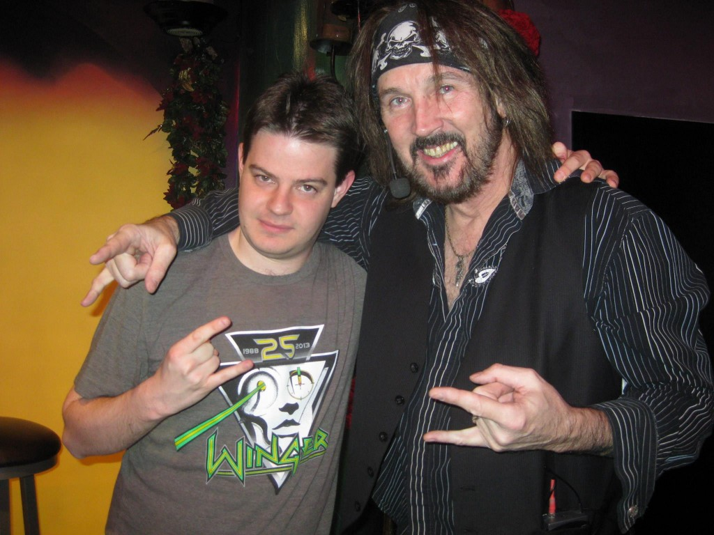 ZRock'R Magazine's Taylor Carlson with Ron Keel.
