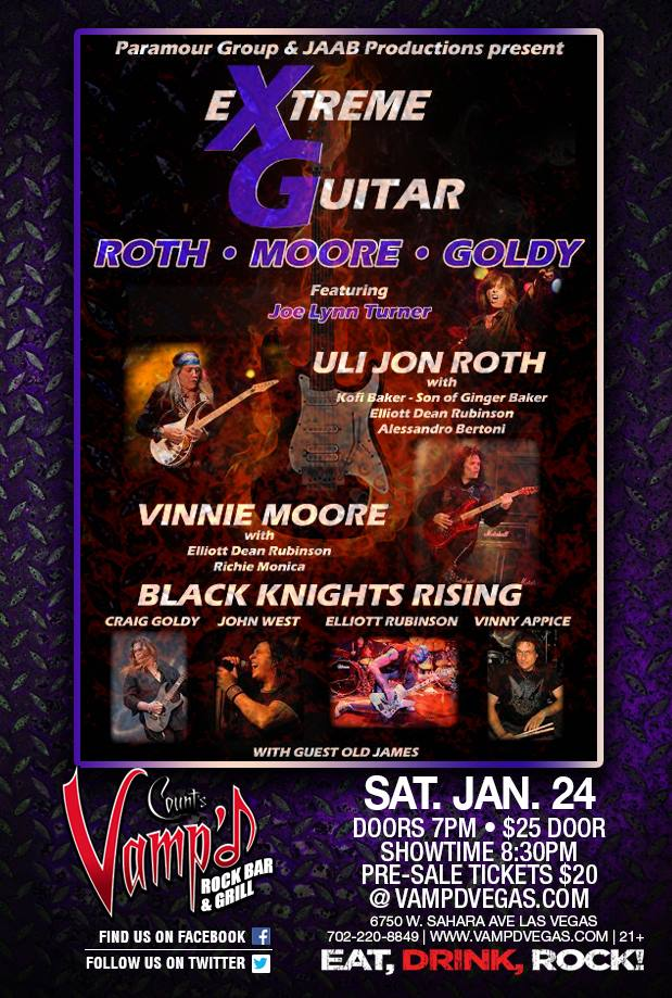 The Extreme Guitar (XG) show took place at Vamp'd on Saturday, January 24, 2015.