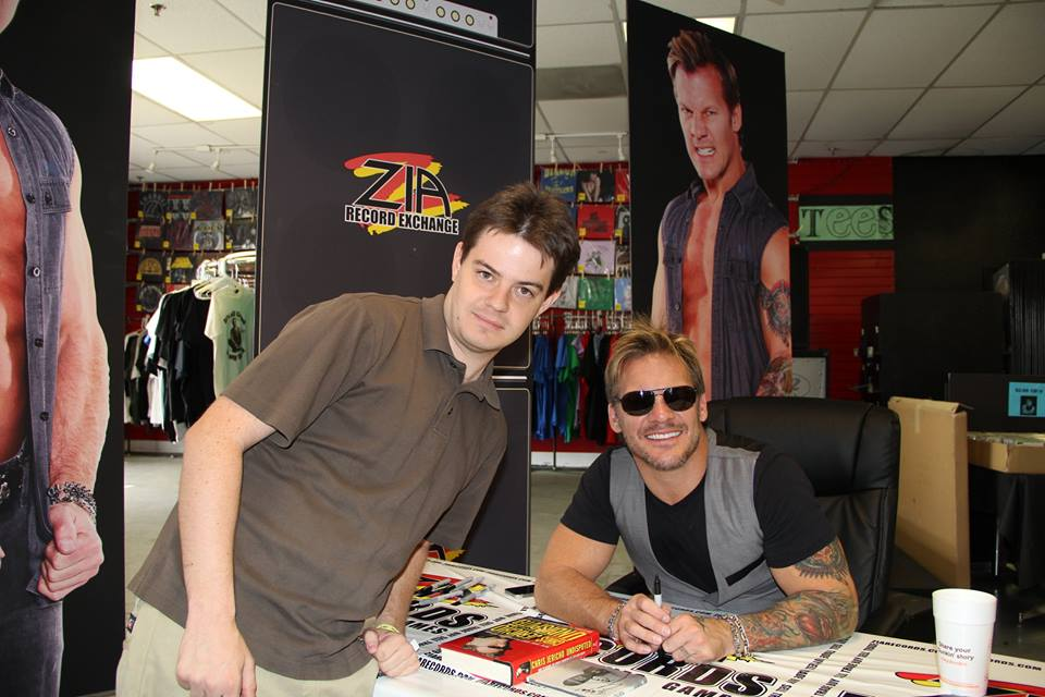 Taylor Carlson (the author of this review, left) with Chris Jericho (right).