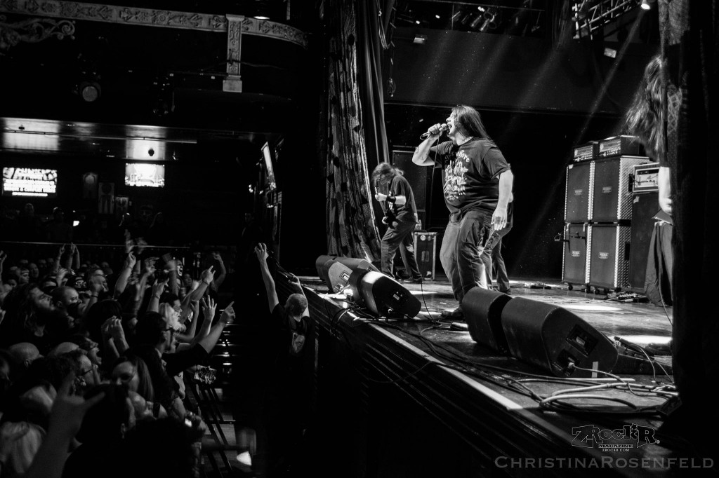 Cannibal Corpse on stage at House of Blues
