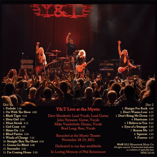 The setlist for Live at the Mystic combines old favorites with cuts from their latest studio effort, 2010's Facemelter.