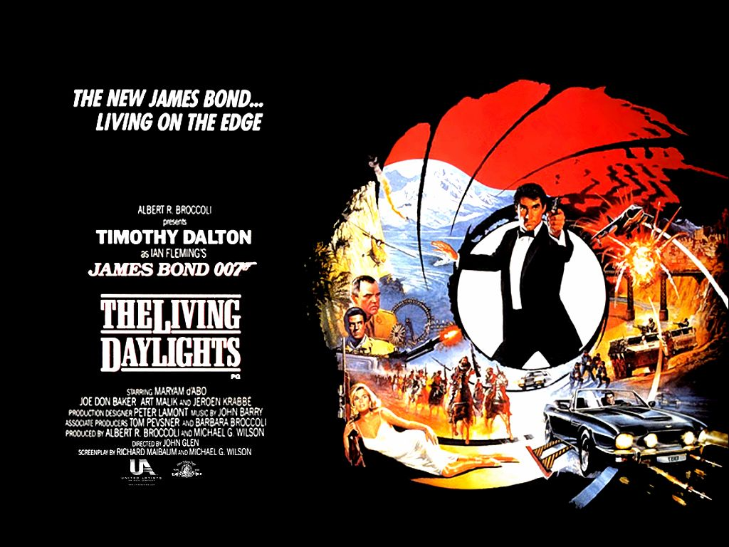 Timothy Dalton succeeded Roger Moore in the role of James Bond, with the first of Dalton's two films being 1987's the Living Daylights.