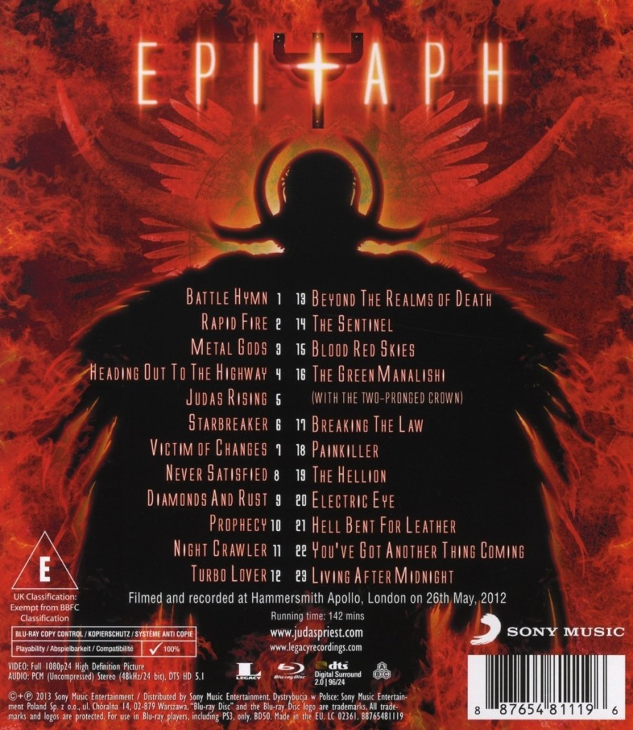 The Epitaph setlist spawns every album of the band that Rob Halford sang on, from the very beginning to the present day.