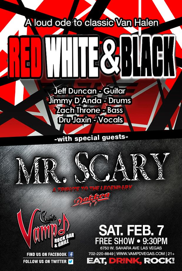 Mr. Scary and Red White and Black played Count's Vamp'd on Saturday, February 7, 2015.
