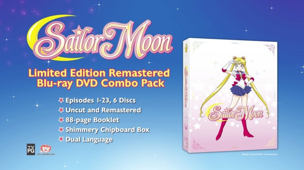 Sailor Moon: Season 1, Part 1 was released on November 11, 2014. This is the first in a series of Sailor Moon home video releases intended to culminate in the first ever American release of the complete series, from start to finish.