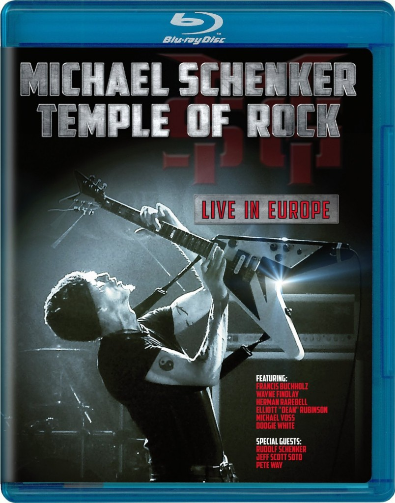 Michael Schenker – Temple of Rock Live in Europe was released on Blu-ray Disc on January 15, 2013. The disc features a show filmed in May 2012 at Tillburg, Netherlands.