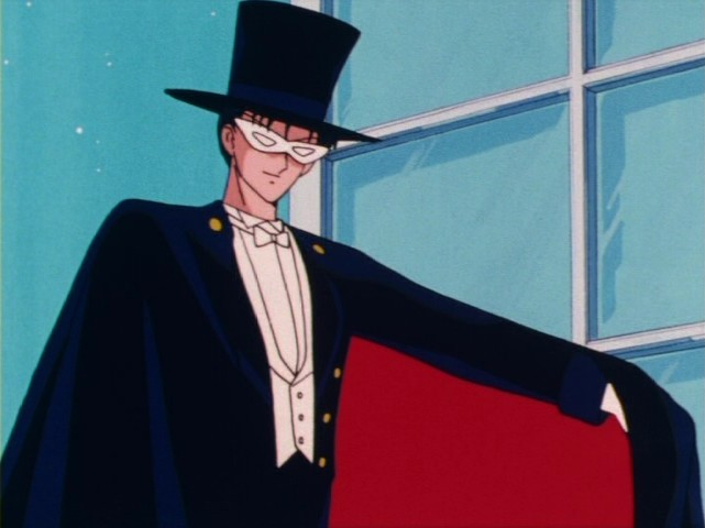 The mysterious Tuxedo Mask appears to assist Sailor Moon from time to time.... but who is he really? And is he friend or foe?