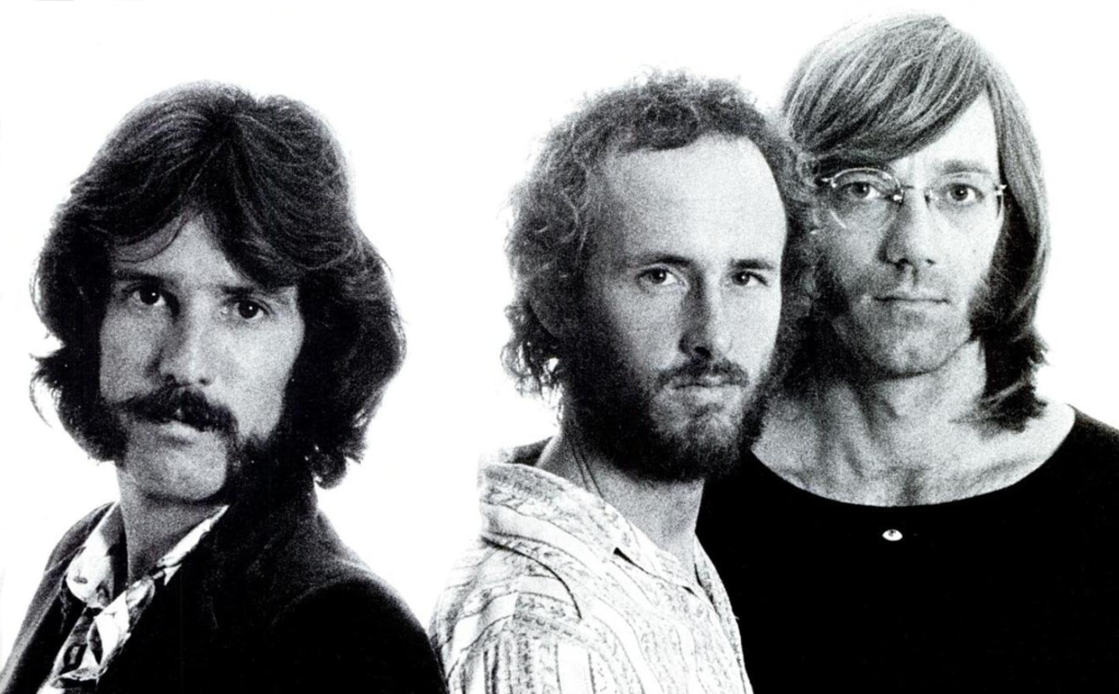 The Doors in 1971, following Jim Morrison's death.