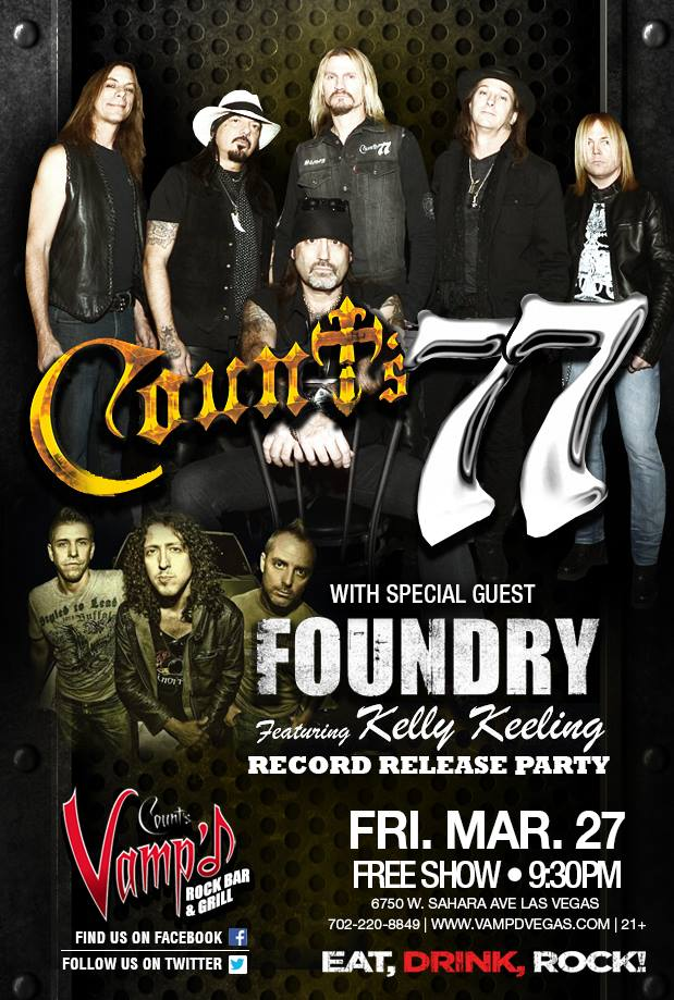 Count's 77 and Foundry played Vamp'd on Friday, March 27, 2015.