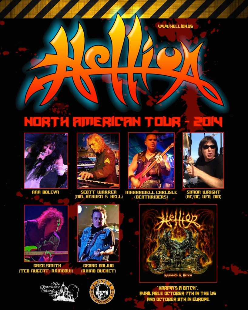 Hellion toured in 2014, playing songs from throughout their career.
