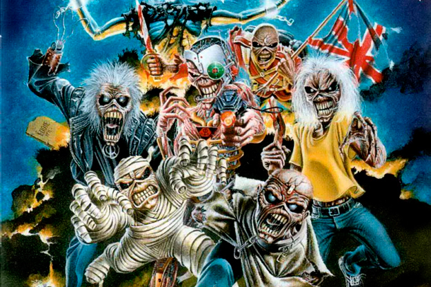 Eddie, Iron Maiden's legendary mascot, in some of his various guises over the years.