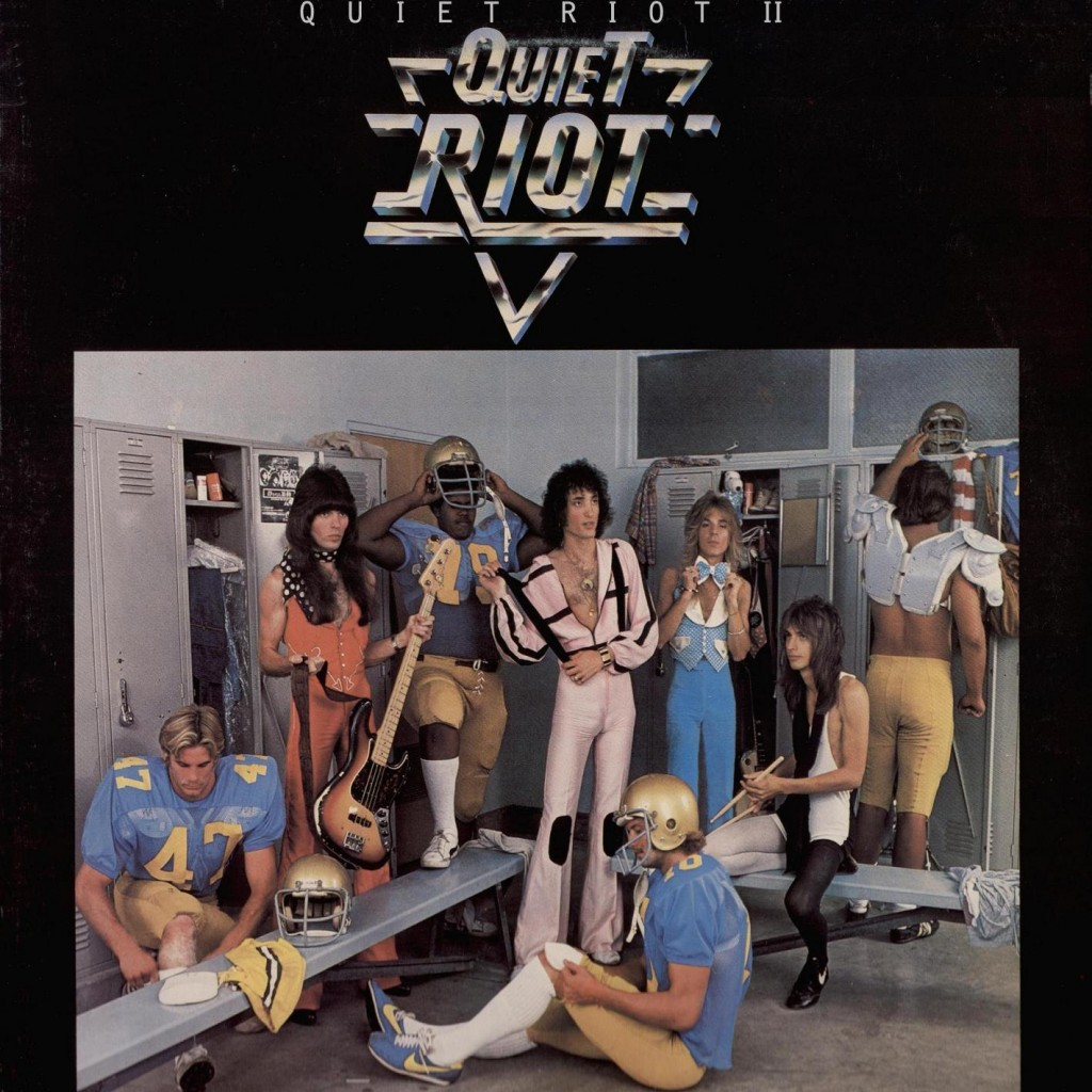 "Quiet Riot II was the band's sophomore album, released in Japan in 1978. The album cover here is an even more ""WTF"" moment than the debut cover! Rudy Sarzo is pictured but actually joined the band after Kelly Garni had recorded all of the bass parts, prior to his being fired from the group."