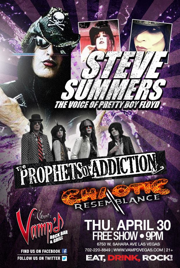 Steve Summers played Vamp'd on April 30, 2015. A number of support acts were on the bill as well.