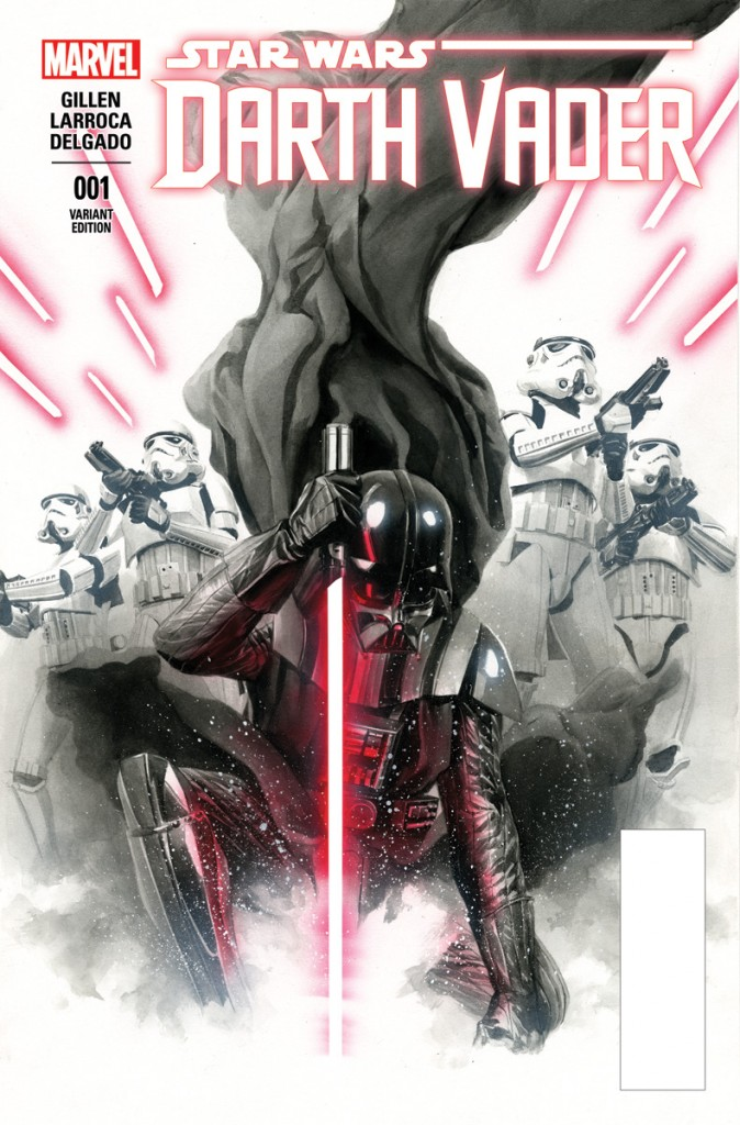 Like the other recent Star Wars comics, the Vader series is being offered with a number of variant covers.