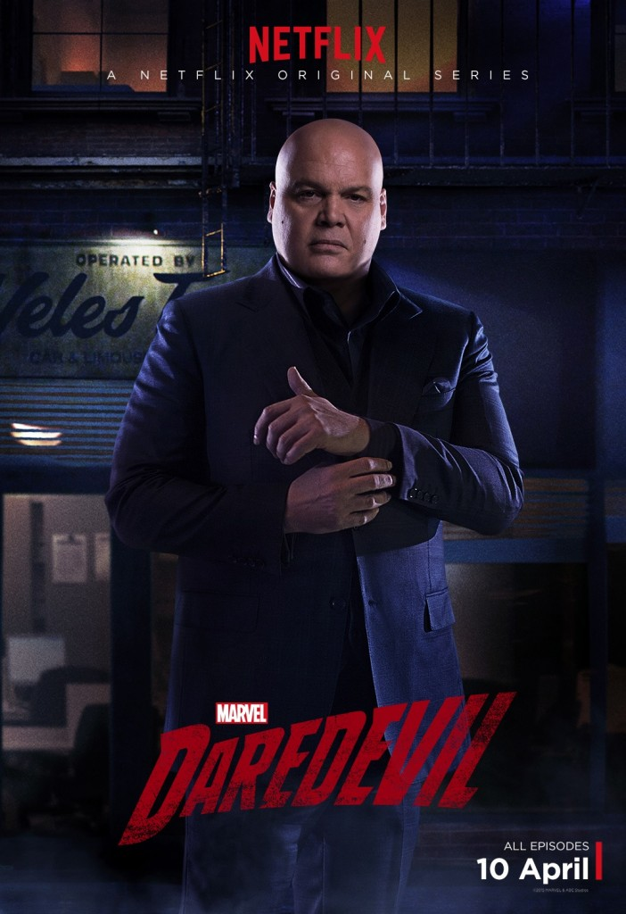 Vincent D'Onofrio stars as the villainous Wilson Fisk/Kingpin, the primary antagonist in these 13 episodes.