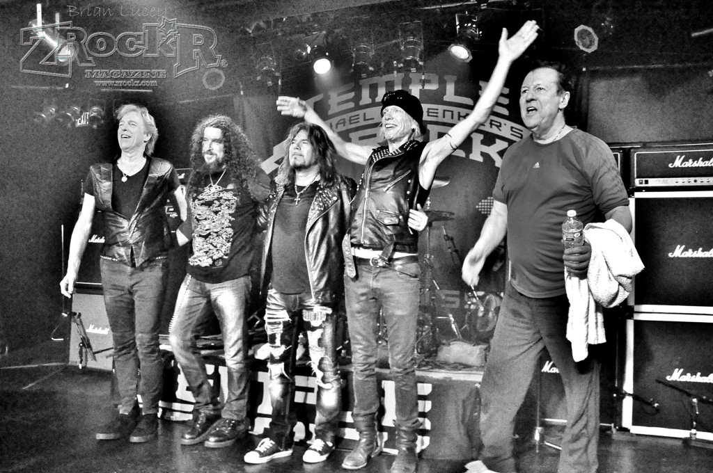 The Temple of Rock is one of the greatest bands Michael Schenker has ever assembled. From left: Francis Buchholz, Wayne Findlay, Doogie White, Michael Schenker, Herman Rarebell