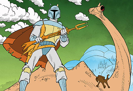 Perhaps the most noteworthy aspect of the presentation is its animated segment, featuring the first appearance of Boba Fett.