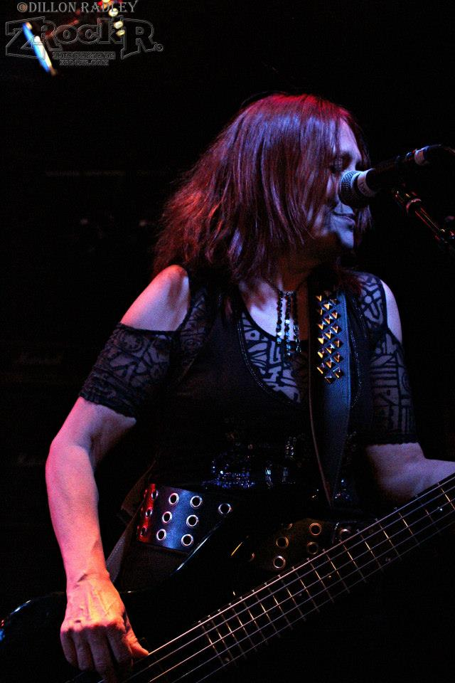 Girlschool bassist Enid Williams.