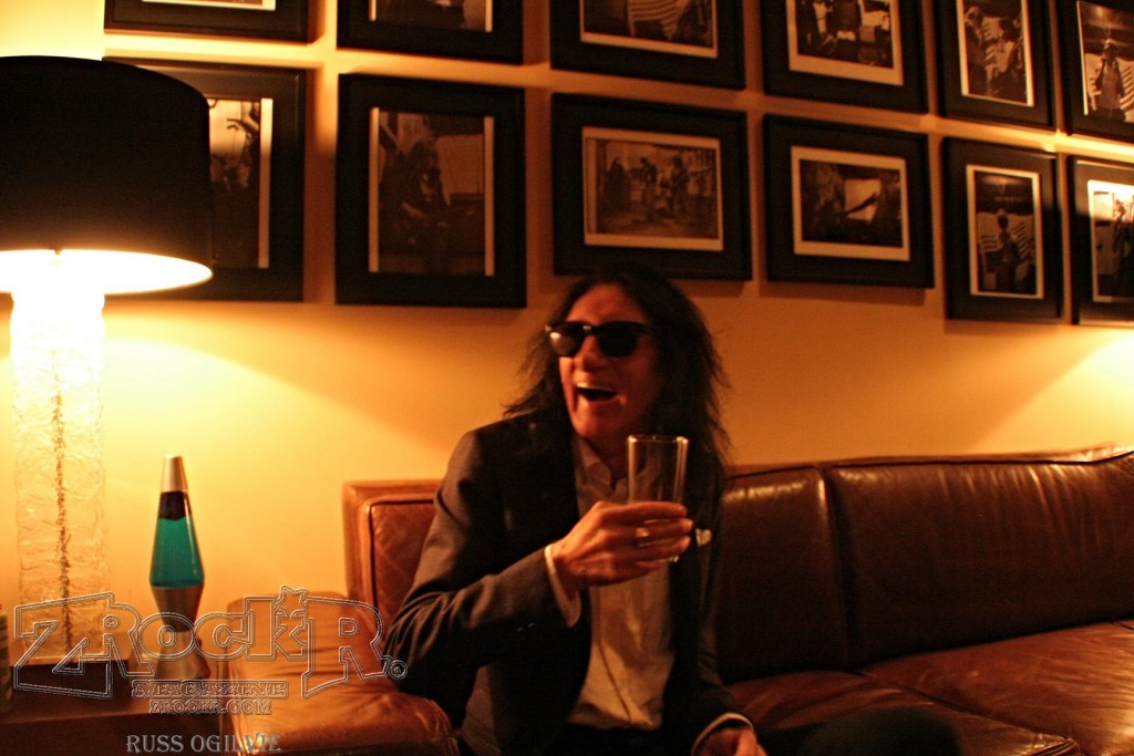 Chatting with Dr. John Cooper Clarke backstage at Vinyl