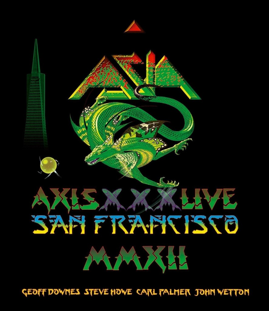 Axis XXX Live is a 2012 concert from Asia's classic lineup of John Wetton, Steve Howe, Carl Palmer, and Geoffrey Downes.