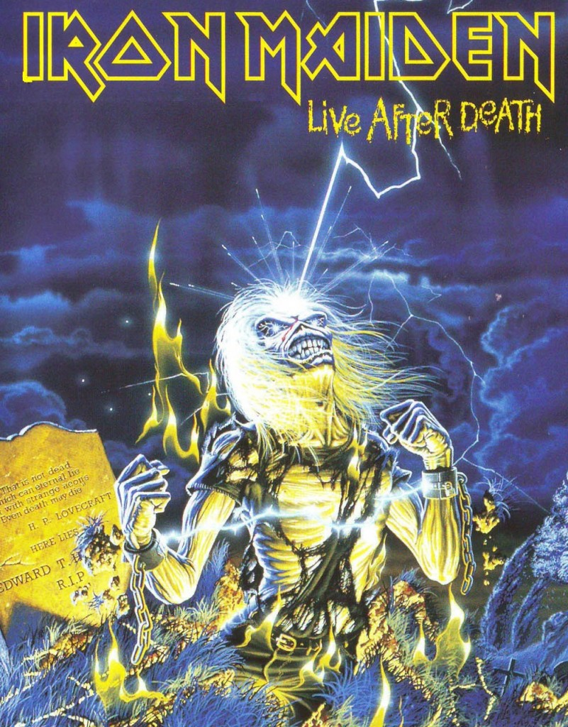 Live After Death is a home video release from Iron Maiden, chronicling a 1985 live performance at the Long Beach Arena.