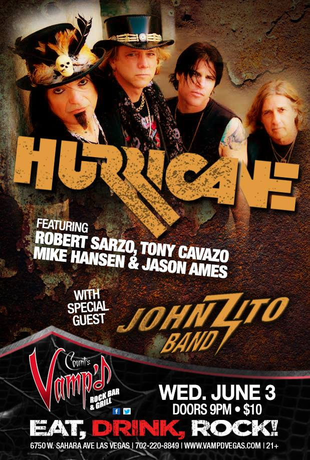 Hurricane played Vamp'd on Wednesday, June 3, 2015.