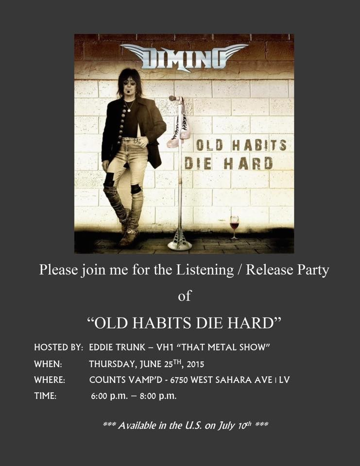 Frank DiMino's listening party for Old Habits Die Hard was at Vamp'd on June 25, early in the evening.