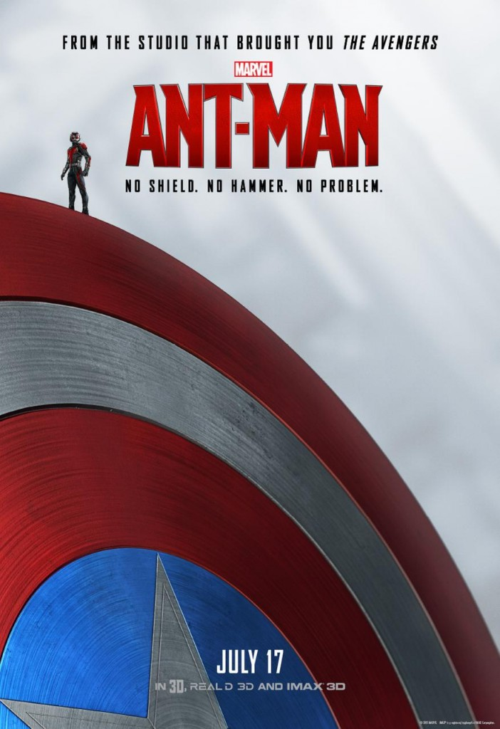 Poster art depicts the character amidst the Avengers and their classic tools and weaponry, in this case, the legendary Captain America shield.