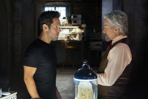 Paul Rudd (left) and Michael Douglas (right) star in the film.