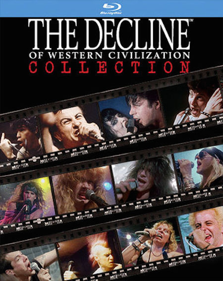 The Decline of Western Civilization Collection was released in June of 2015, and contains all three of Penelope Spheeris' documentaries in the series, from 1981-1998.