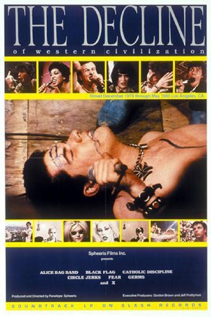 The Decline of Western Civilization was the first film in the series, released in 1981.